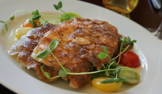 potato crusted trout filet