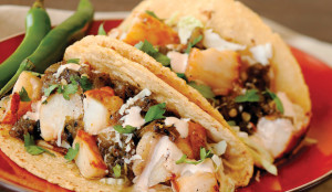 scallop seafood tacos