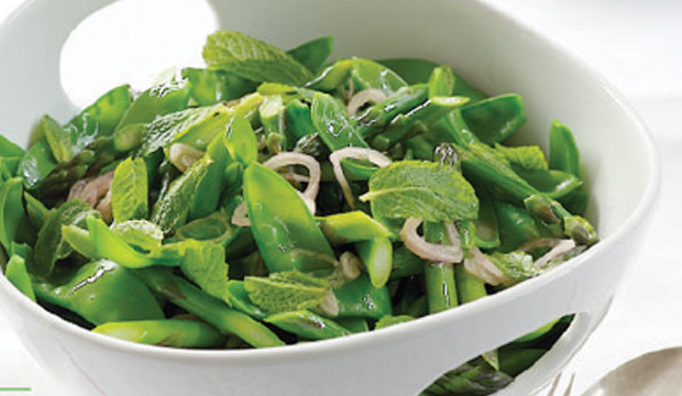 refreshing snow pea salad