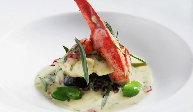 Maine Lobster With Cherries Fava Beans Bearnaise Sauce From Kurt