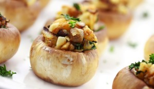 mushrooms stuffed with sausage