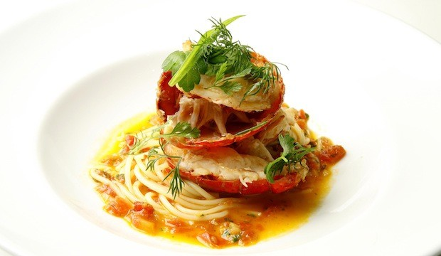 Lobster tail with pasta recipe