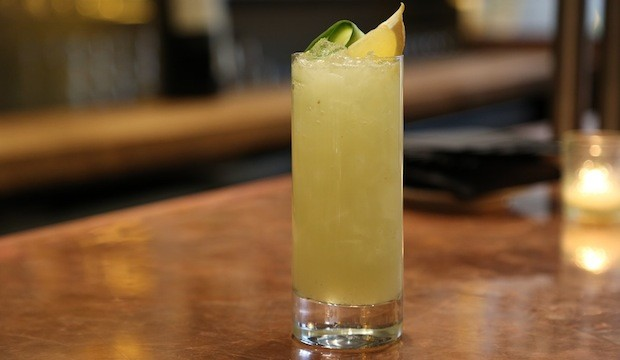 lime and cucumber cocktail