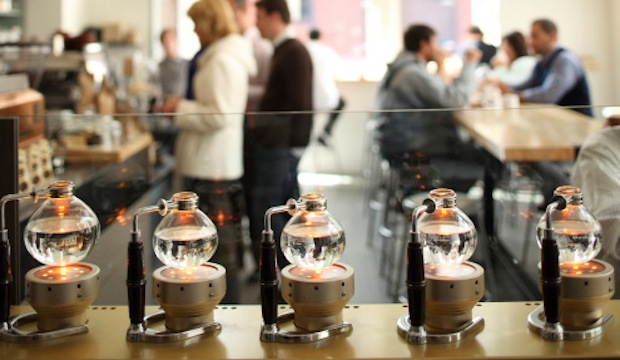 Blue Bottle: Recommended by: Todd Selby (Owner, The Selby), Christene Barberich (Editor-in-Chief, Refinery29), Todd Snyder (Fashion Designer), Matt Bean (Editor, Entertainment Weekly), Jaime King (Actress), Amy Landecker (Actress), Yousef Ghalaini (Chef, FIG)
