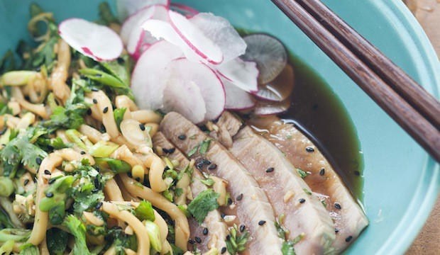 tuna and udon noodles