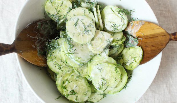 light and healthy cucumber salad