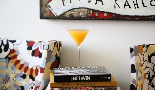passion fruit and vodka cocktail