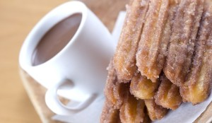 churros with cinnamon and chocolate sauce