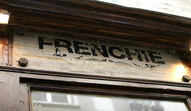 Frenchie: Recommended by: David Myers (Chef/Owner, Hinoki & The Bird), Dominique Crenn (Chef/Owner, Atelier Crenn), Roopal Patel (Founder/Owner, Roopal Patel Consulting), Michele Promaulayko (Editor-in-Chief, Yahoo Health), Todd English (Chef/Owner, Todd English Food Hall at The Plaza), Carla Gugino (Actress)