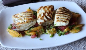 Grilled Halibut with Grapefruit & Orange