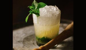cocktail with mint