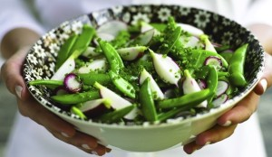 healthy green summer salad