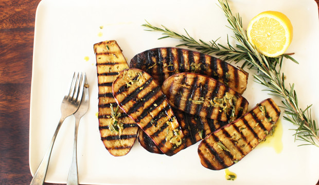 grilled vegetables with herbs