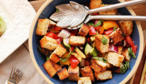 panzanella bread and tomato salad