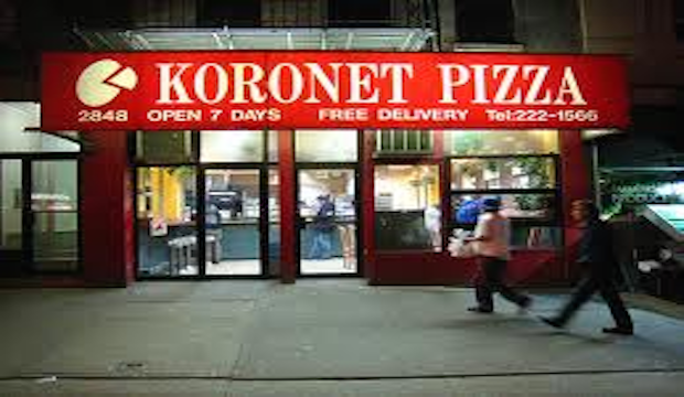 Koronet Pizza: Recommended by: Doug Quint (Co-Founder/Co-Owner, Big Gay Ice Cream Truck)
