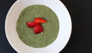 overnight chia pudding with matcha