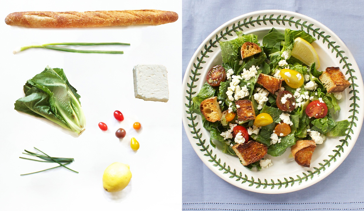 fresh-greens-with-chive-croutons