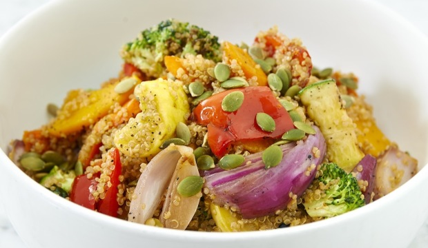 roast veggies and quinoa salad