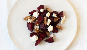 roasted beets walnuts salad goat cheese healthy recipe