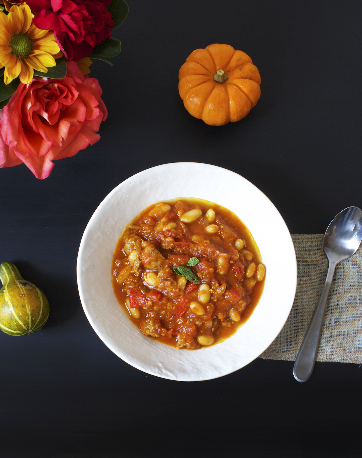 pumpkin-sausage-and-white-bean-chili