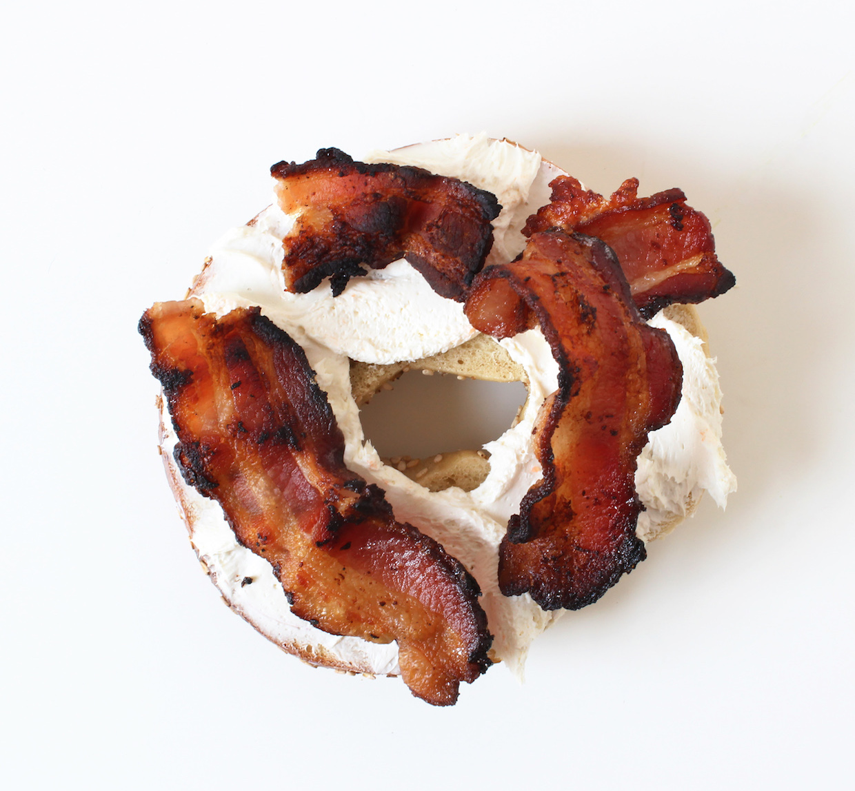 cream-cheese-and-bacon-bagel