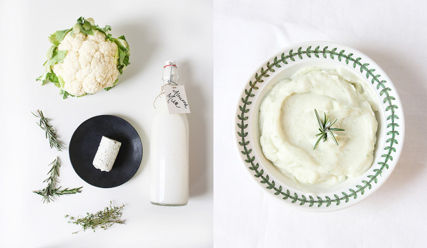 mashed-cauliflower-with-goat-cheese