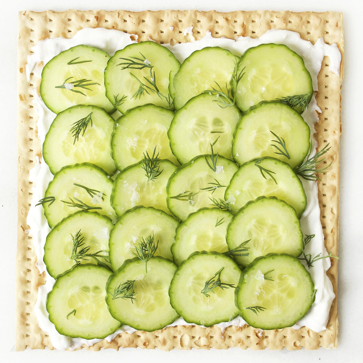 cucumbers-labne-and-dill-on-matzah