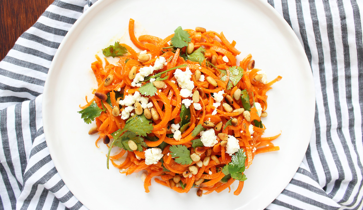carrot-salad-with-cilantro-pine-nuts-and-feta