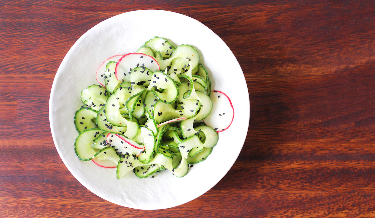 Spiralized Cucumbers and Pickled Radish Salad: TNP ...