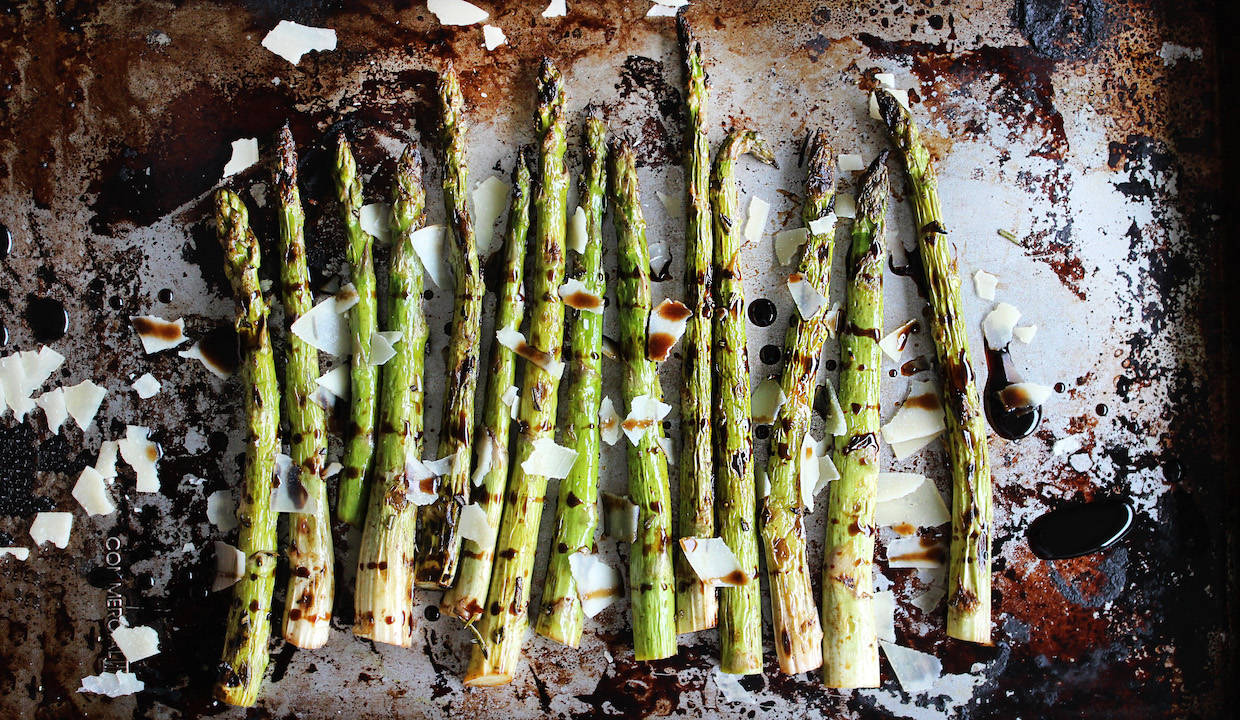 Grilled Asparagus with Aged Balsamic and Parmesan: TNP Originals