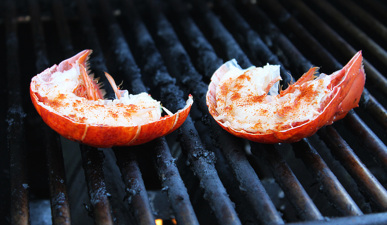 lobster-on-grill