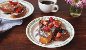 Bourbon Infused French Toast