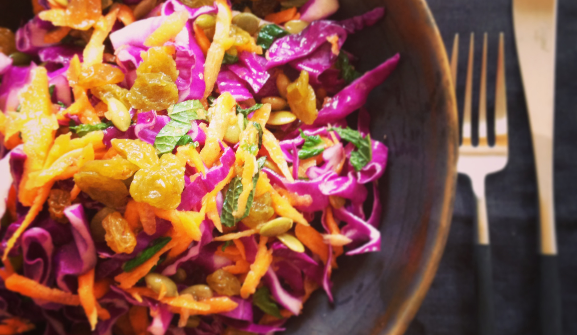 Healthy Cabbage and Carrot Slaw Salad