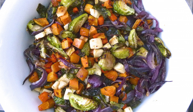 Maple-Mustard Roasted Vegetables