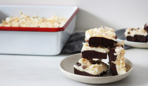 Dark Chocolate and Coconut Fudge Bars - Get the Recipe!