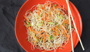 Asian Sesame Dressing and Noodles - Get the Recipe!
