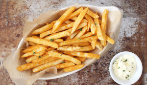 Baked French Fries with Truffle Aioli