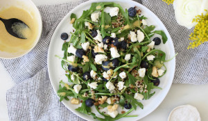 Blueberry Arugula Quinoa Salad