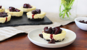 Mini Cherry Cheesecakes with Oreo Crust - Get The Recipe Here!