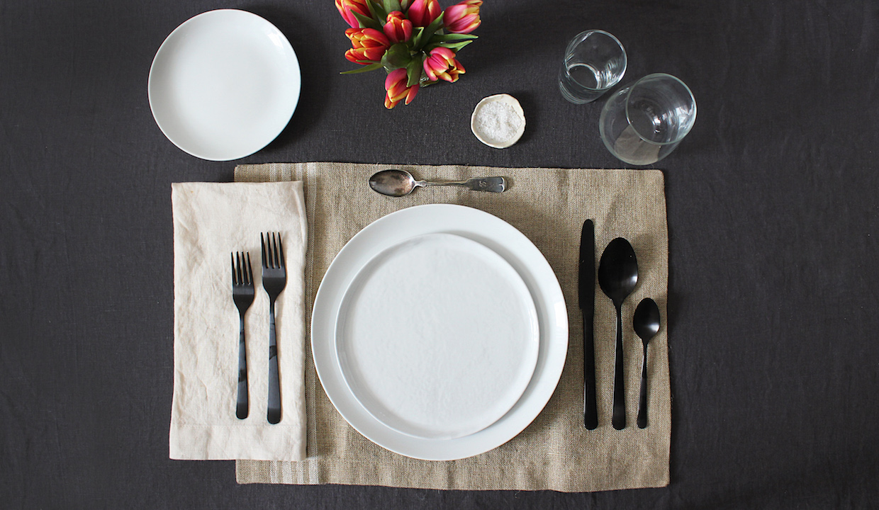 How to set the table from apartment therapy s maxwell for Table place setting