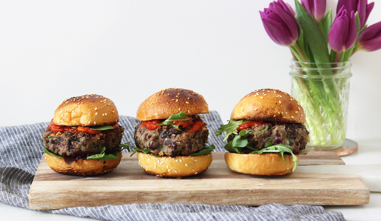 Black Bean Mushroom Sliders: TNP Originals