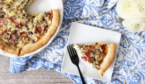 Mushroom, Bacon & Gruyere Quiche - Get The Recipe!