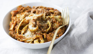 Eggplant Tempeh Bolognese - Get the Recipe!