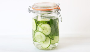 Cucumber and Basil Infused Water