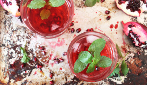 Iced Pomegranate Green Tea