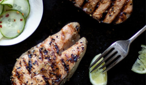 Asian Marinated Salmon With Pickled Cucumbers - Get the Recipe!