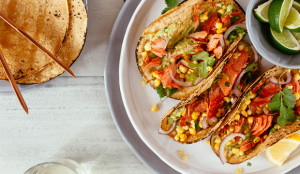 Grilled Salmon Tacos with Corn Salsa - Get the Recipe!