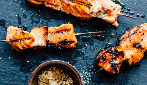 Salmon Skewers with Asian Marinade