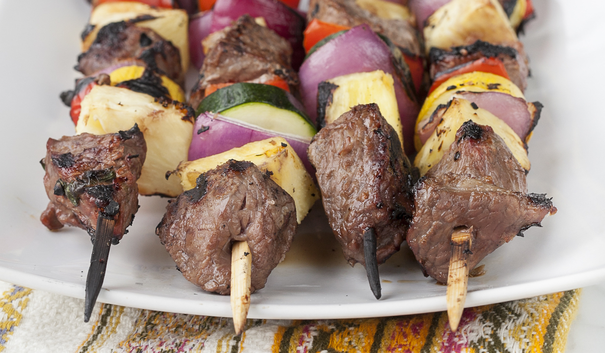 Pineapple Beef Kabobs: From Danielle Walker