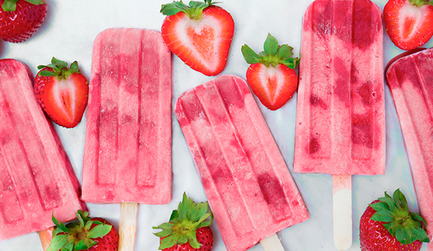 Strawberry Rosé Popsicles: From Liz Moody
